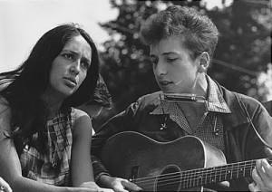 Bob Dylan & Joan Baez at the March on Washington