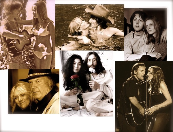 Rock Stars and their wives