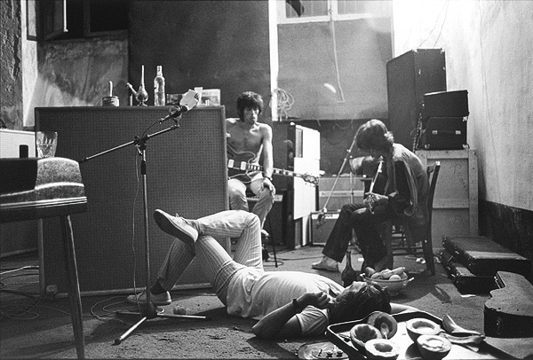 Mick Keith Jimmy in the basement at Nellcote