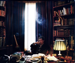 Keith Richards in library