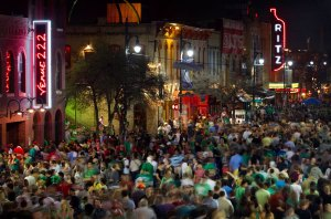 6th Street crowd during SXSW