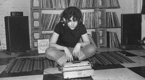 Ellen Willis listening to records