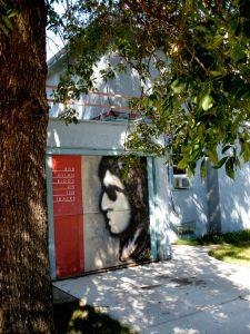 Bob Dylan Hibbing House Garage Door