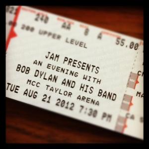 Bob Dylan Ticket
