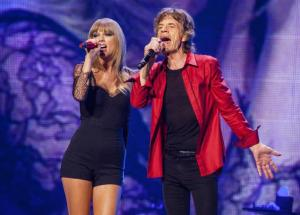 Mick Jagger and Taylor Swift