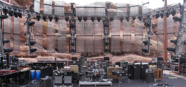 A stage built in stone